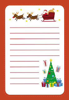 Papel para la Carta a Santa Claus para Imprimir Gratis.