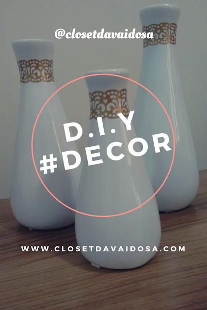 decorando vasos brancos