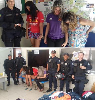 Ladras são detidas pela Guarda Municipal acusadas de furtar 380 peças de roupas, em loja no Shopping em Parauapebas (PA)