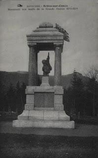 CPA monuments aux Morts du Puy-de-Dôme, Ardes sur Couze