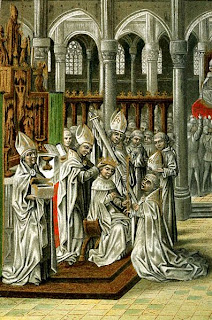 Wikimedia Commons image of the coronation of Henry IV