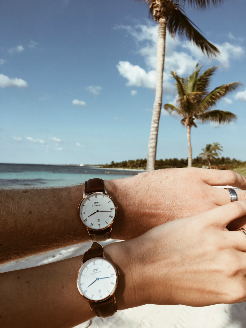 run style run his and hers with daniel wellington