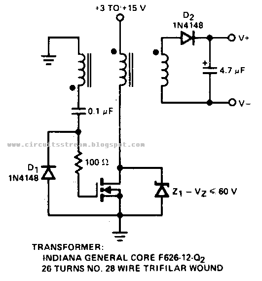 build a positive input negative output charge pump circuit