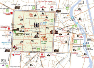 Mapa de Chiang Mai.