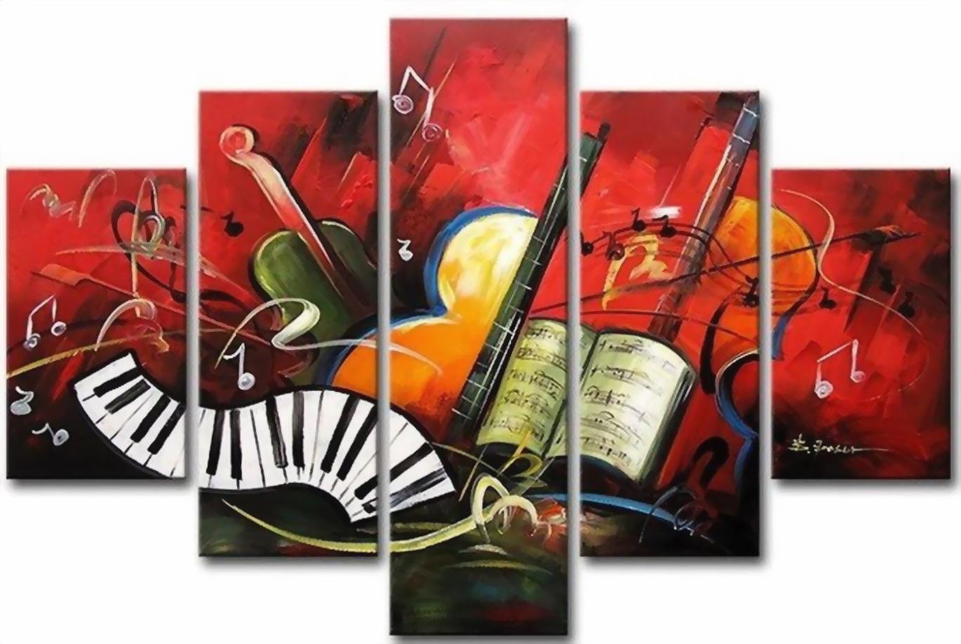 Cuadros modernos pinturas y dibujos bodegones musicales for Tipos de cuadros