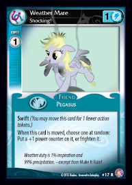My Little Pony Weather Mare, Shocking! Absolute Discord CCG Card