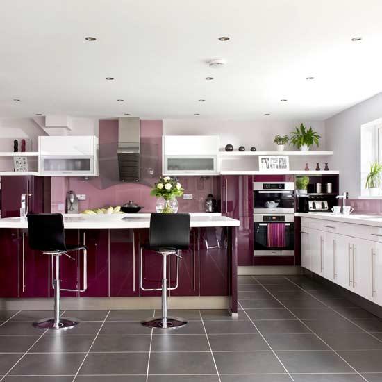 Kitchen Cabinet Accents: Beauty Houses: Purple Modern Interior Designs Kitchen