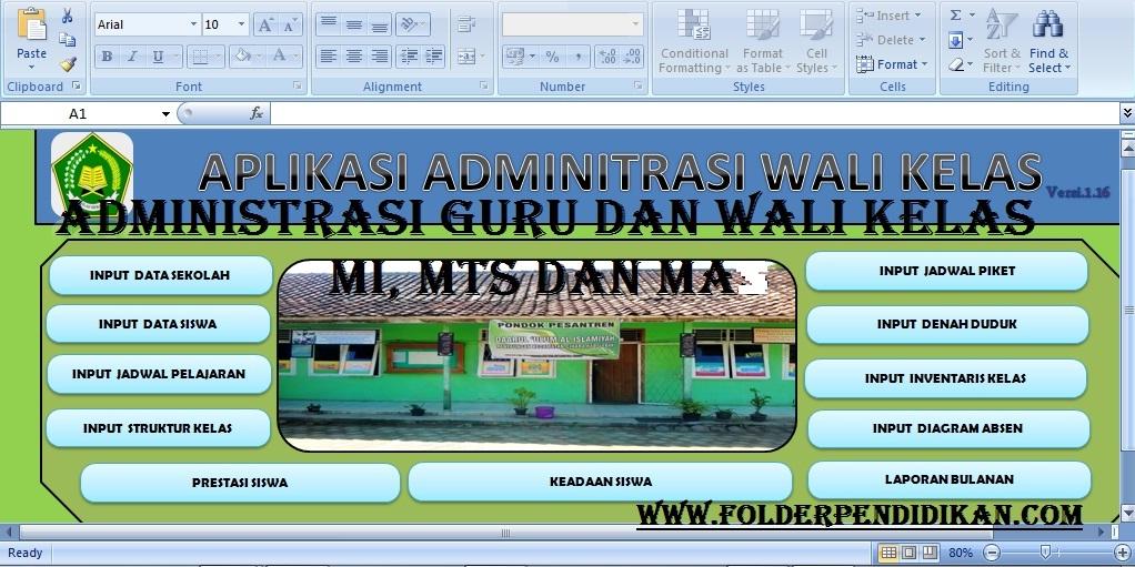 Administrasi Guru dan Wali Kelas MI, MTS dan MA