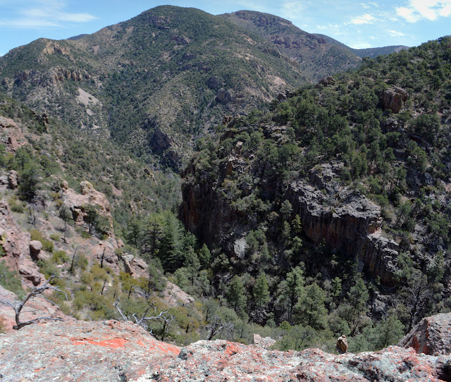 sharp valley below the rocks
