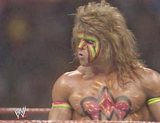 WWF / WWE - Wrestlemania 6: The Ultimate Warrior prepares to face Hulk Hogan