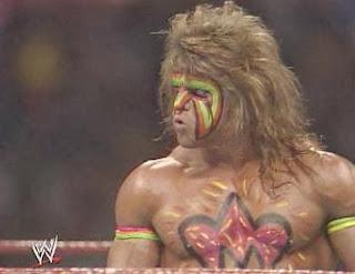 WWF / WWE - Wrestlemania 6: The Ultimate Warrior prepares to face Hulk Hogan