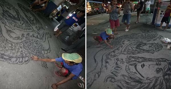 Old beggar with impressive talent amazes netizens