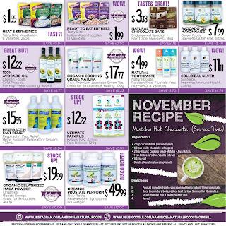 Ambrosia Natural Foods Flyer November 1 - 30, 2017