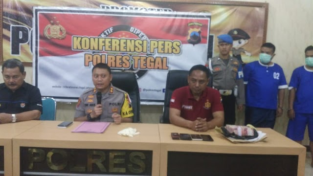 Kapolres Tegal Gelar Konfrensi Pers Terkait OTT di Kabupaten Tegal