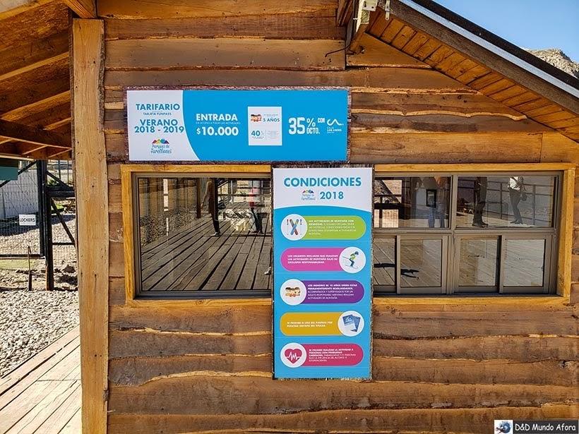Valor da entrada no Parque Farellones - Valle Nevado no verão