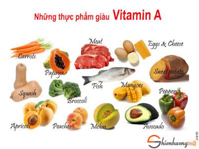 Những thực phẩm giàu Vitamin A