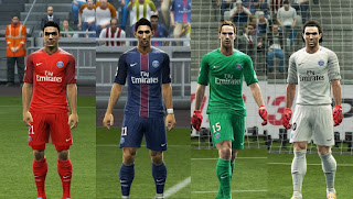 Paris Saint-Germain 2016-2017 Kits PES 2013 By Vulcanzero