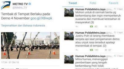 Bentuk Provokasi Metro TV ''Kasian Polri Harus Mengklarifikasi Berulang-Ulang''