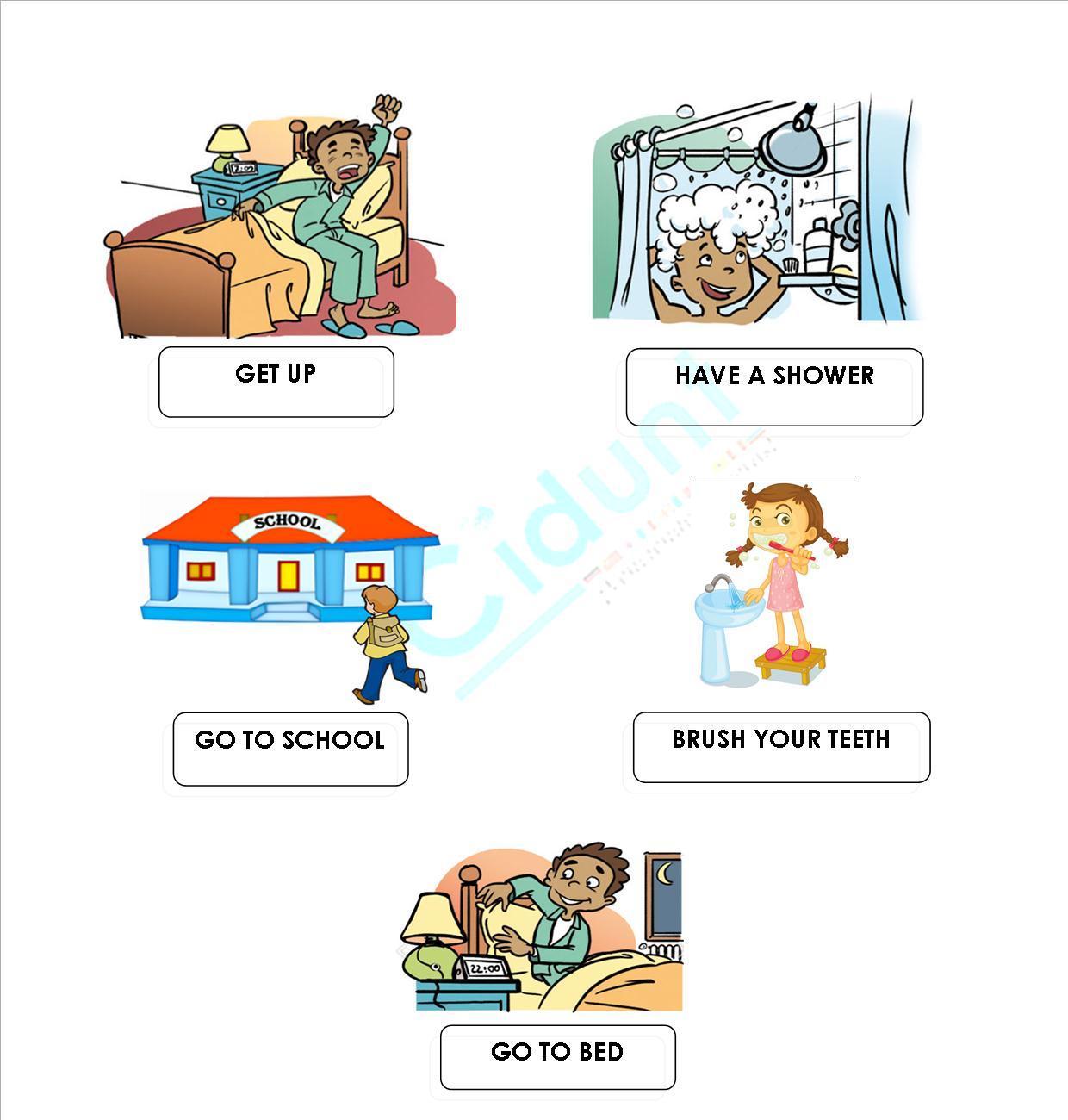 Ingles Para Ninos Children 6 My Day