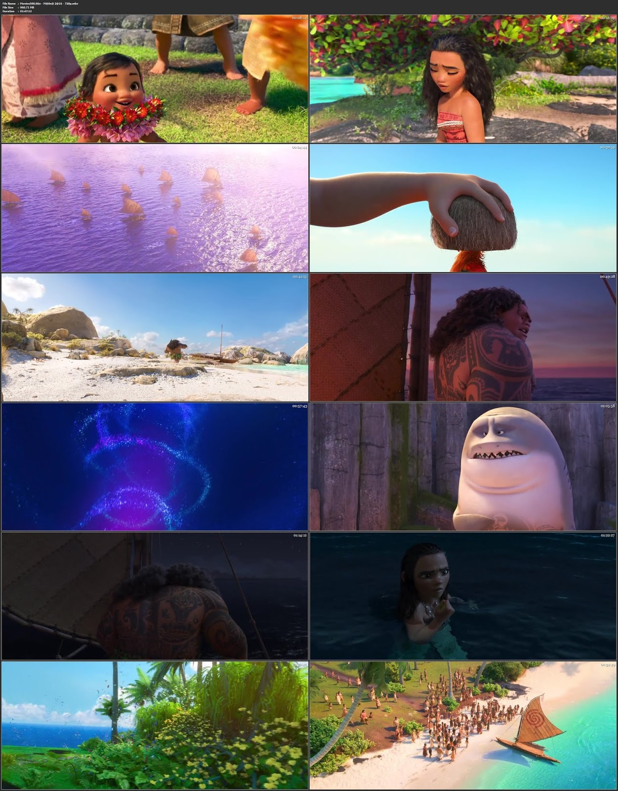 Moana 2016 Hindi Dubbed 300MB Movie BluRay 480p