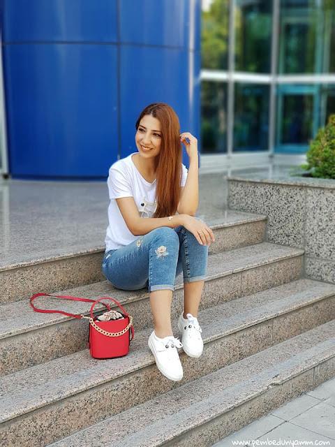beyaz sneaker kombinleri