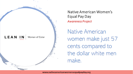 Graphics: Facts on Native American Women Equal Pay - Native American Women's Equal Pay Day