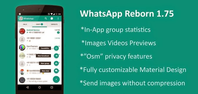 WhatsApp Plus Reborn v1.75 Apk Download AntiBan Material Design Osmdroid