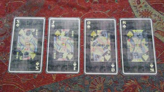 tarot cards face trump spades swords