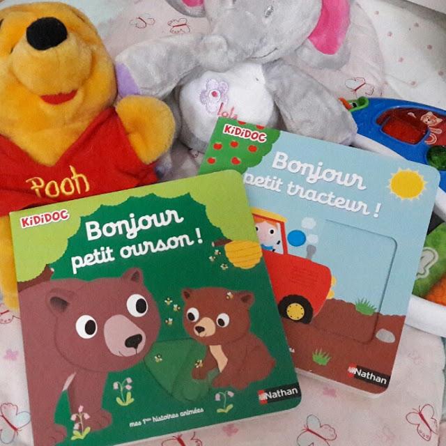 Bonjour petit ourson ! et Bonjour petit tracteur ! de Nathalie Choux, les nouveaux KIDIDOC animés pour les bébés