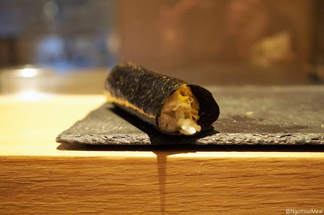 Blue Crab Hand Roll at DOMODOMO in New York City