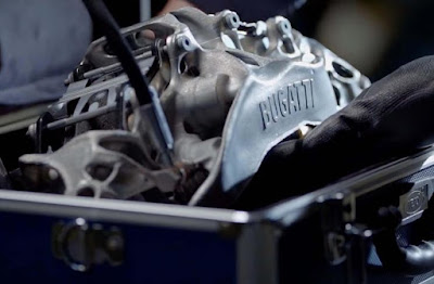 Teknologi Otomotif Terbaru,Bugatti Ciptakan Kaliper Rem Dari Printer 3D