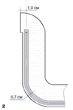 Обработка шлицы подкройной обтачкой