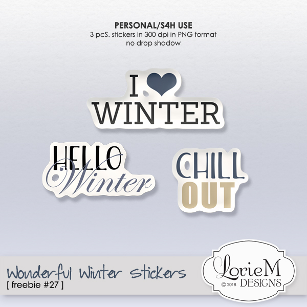 Wonderful Winter Collection, $1.50 Each Pack, 6 & 10 Packs, Giveaway & Freebie