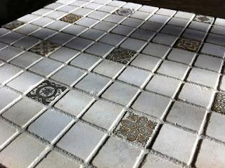 Deco dots as accent tiles