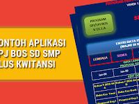 Contoh Aplikasi SPJ BOS SD SMP Plus Kwitansi