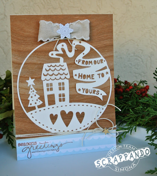 "Card ""From our home to yours"""