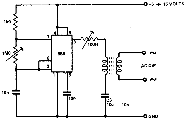 inverter as high voltage low current source circuit