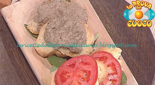Prova del cuoco - Ingredienti e procedimento della ricetta Crostini di baguette con fegatini di Cesare Marretti