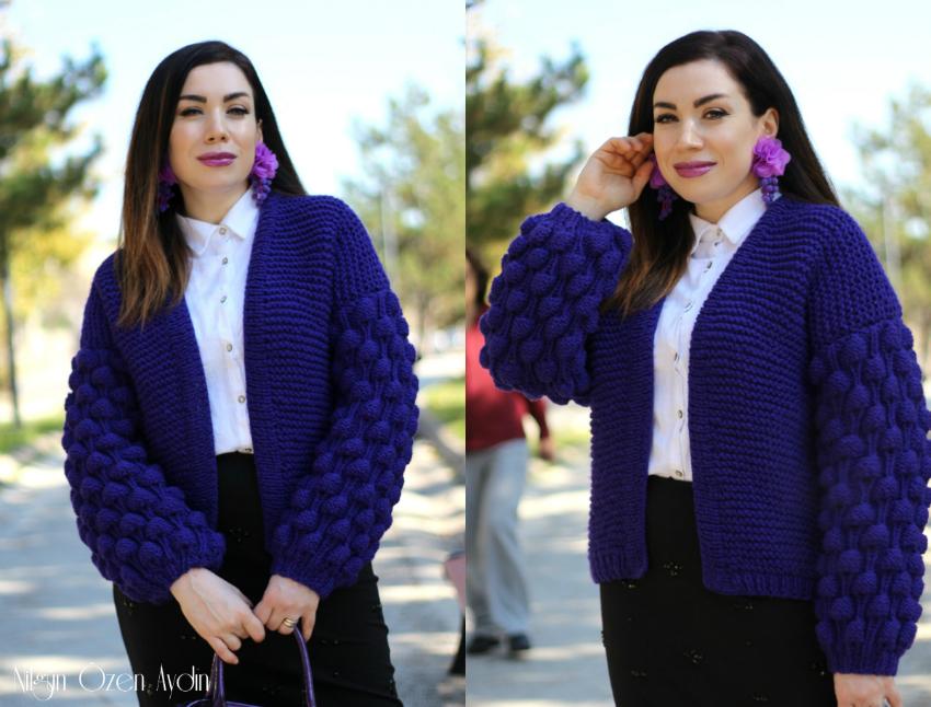 Ahududu Modeli Hırka-Şeffaf Renkli Topuklu Botlar-moda blogu-fashion blogger
