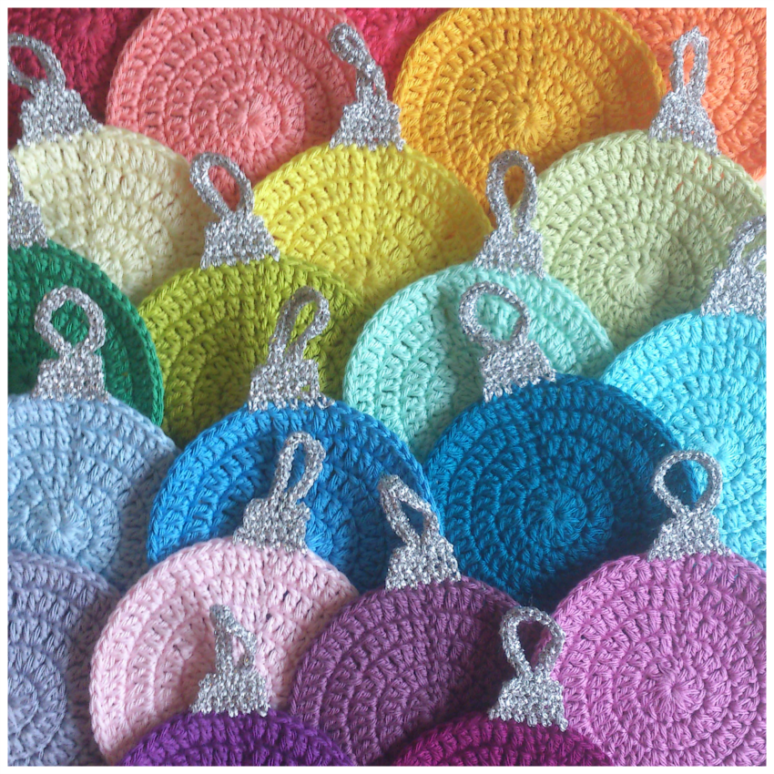 Attys Crochet Christmas Coasters