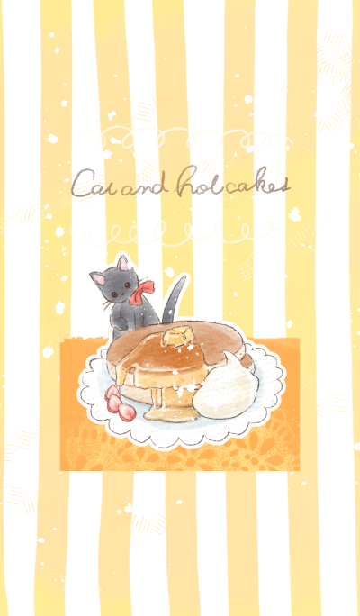 Cat and hot cakes
