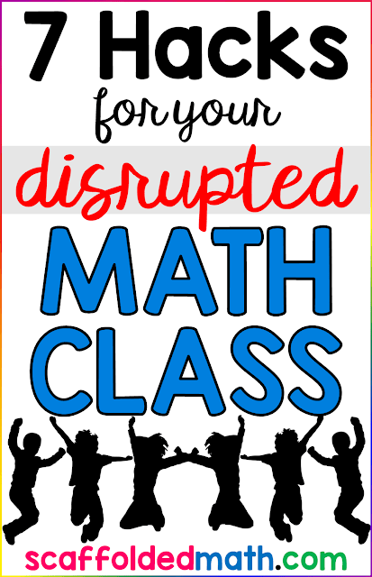 Do you have a particularly disruptive class this year or wish you had a list of engaging go-to math activities for times when class is disrupted? On testing days or days before holidays when students are a little antsy, the classroom management ideas in this post will come in handy!