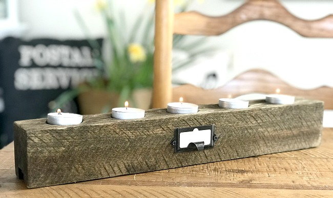 Easy and Inexpensive Rustic DIY Tea Light Candle Holder