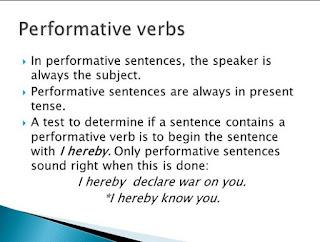 Pernahkah anda mendengar permormative verb sebelumnya Pengertian Dan Contoh Performative Verb
