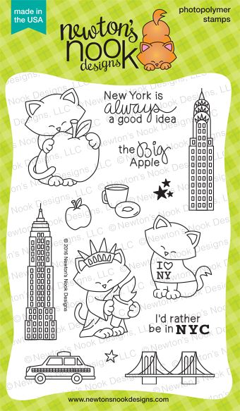 Newton Dreams of New York  - Cat Stamp Set by Newton's Nook Designs #newtonsnook #newyork