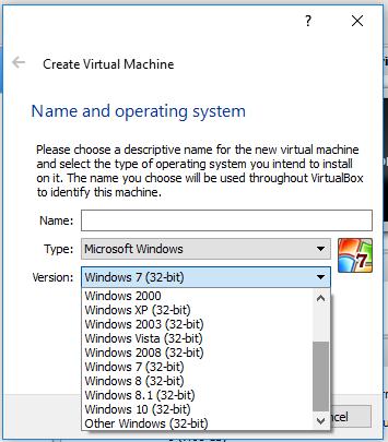 virtualbox windows 10 64 bits