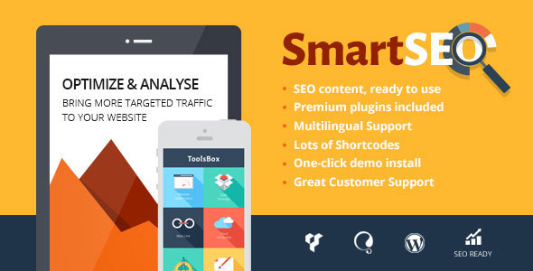 Free Download SmartSEO V1.2 SEO & Marketing Services Wordpress Theme