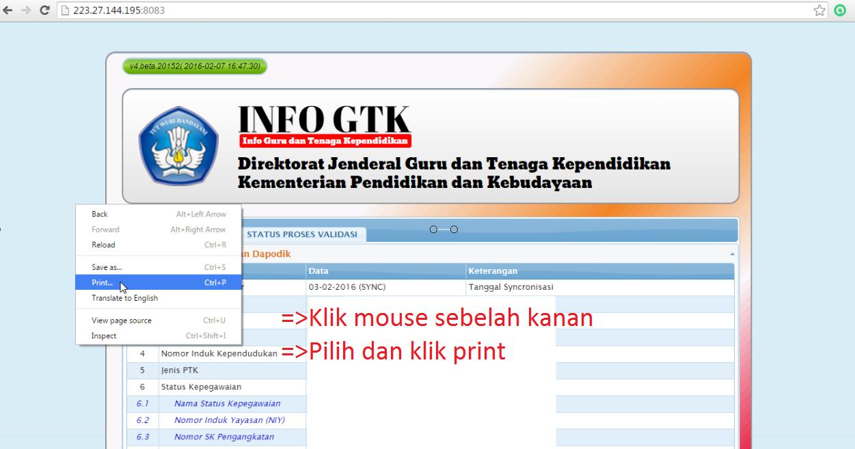 PANDUAN CEK INFO GTK (V4.beta.20152) HASIL ENTRI ...