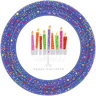 Pretty Hanukkah paper plates for your party make clean up easy.