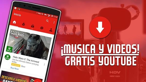 DESCARGA MUSICA Y VIDEOS DE YOUTUBE EN ANDROID 2017    LA MEJOR APLICACION